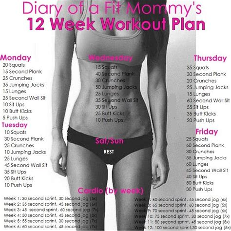 sissy routine diary of a fit mommy 12 week no gym home workout plan
