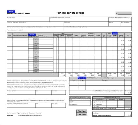 Payroll Expense Report Template Excel Expense Report Template Excel Expense Report