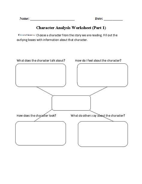 Character Development Worksheet Pdf by Character Analysis Worksheet Part 1 Beginner I Teach
