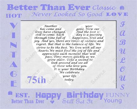Quotes On 75th Birthday Happy Birthday Poems For Daughter The Happy 75th