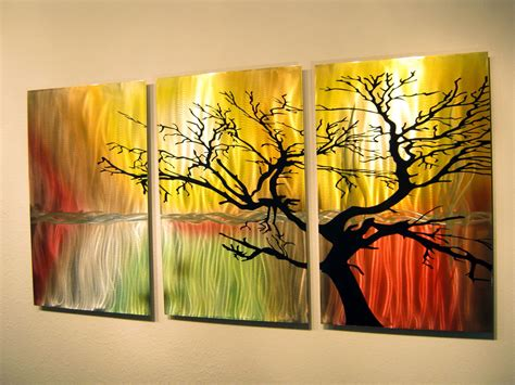 wall painting trees2018 best 15 of three panel wall