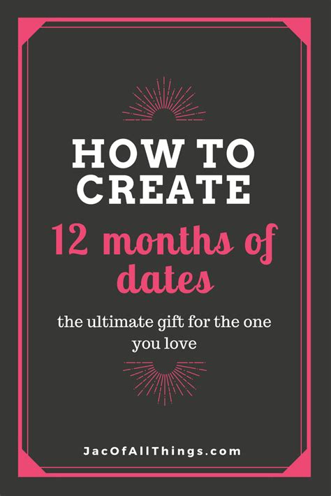 monthly date christmas presents 12 months of dates date gift idea jac of all things