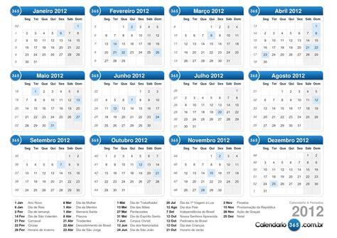 Calendario De 2012 Calend 225 2012