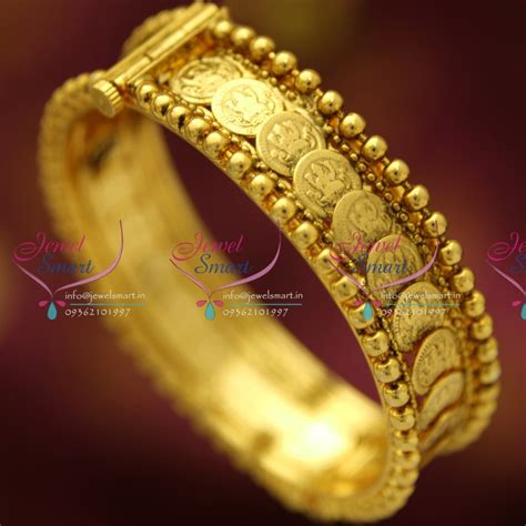 buy crystal jewelry sets onlinelaxmi coin setsearrings b4696s 2 4 size screw open laxmi coin temple bangles