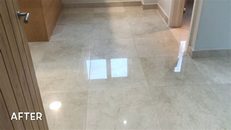 Marble Floor Restored To A High Shine in Newport   CSB