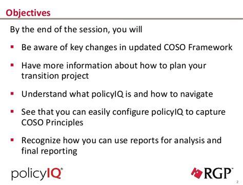 coso internal control integrated framework principles policyiq for coso 2013 internal control integrated framework