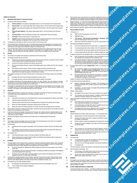 procurement civil engineering templates