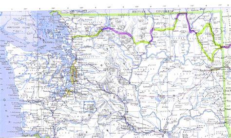 wa state map maps of washington state