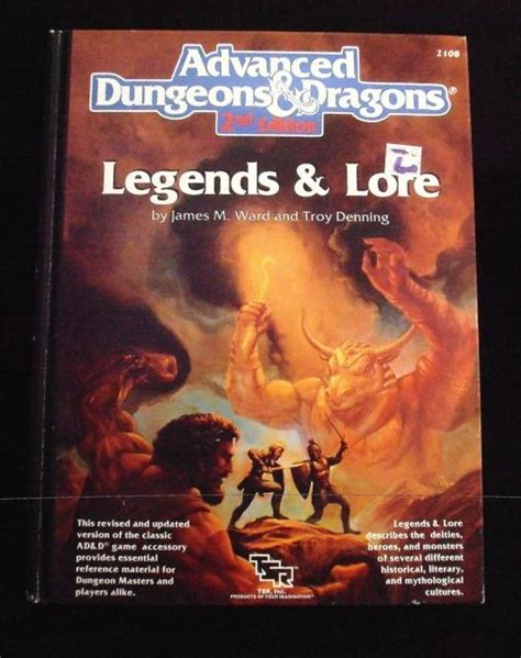 advanced dungeons dragons 2nd edition seads legends lore advanced dungeons dragons 2nd edition 8