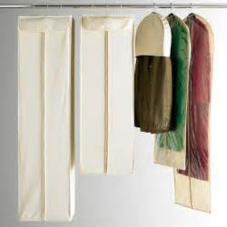Hanging Clothes Storage natural cotton hanging storage bags the container store