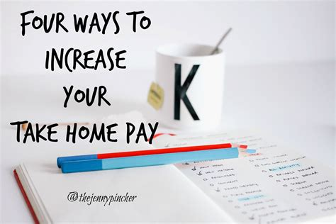 four ways to increase your take home pay
