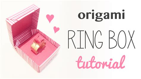 How To Make A Paper Ring Box - origami ring box for s day paper kawaii