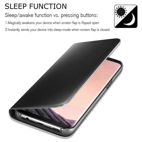 J7 2017 J720 Smart Clear View Flip Mirror Cover Autolock 28 for samsung galaxy j3 j5 j7 pro 2017 clear view mirror leather flip smart ebay