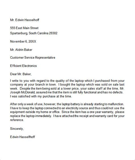 Complaint Letter Template To Garage Complaint Letter 16 Free Documents In Word Pdf