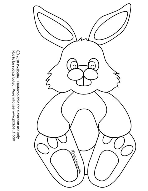bunny outline coloring page easter bunny outline coloring home
