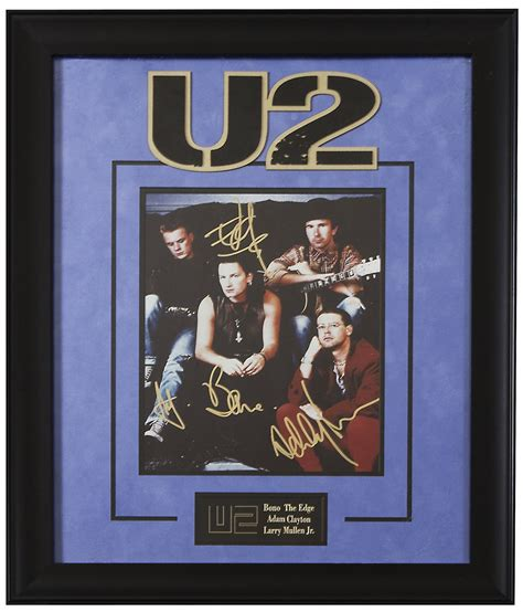 Poster U2 Band M102 u2 band signed picture poster in framed decals