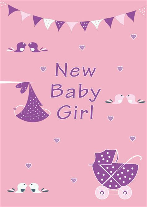 free printable greeting cards new born baby quot new baby girl quot drawing art prints and posters by caroline