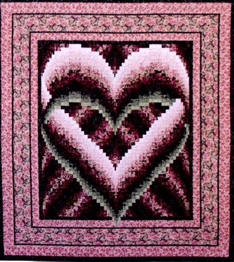 heart bargello free quilt pattern