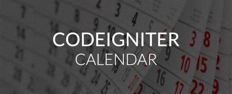 codeigniter calendar template codeigniter calendar class for creating dynamic calendar