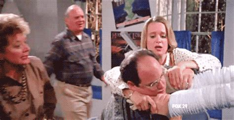 when george gets strangled | seinfeld gifs | popsugar