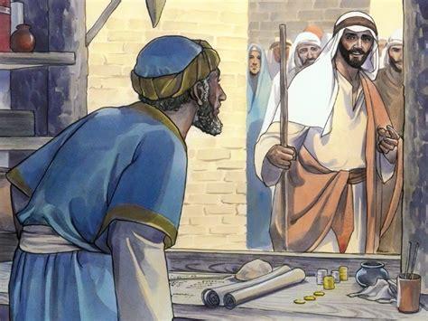 bible visuals jesus calls matthew  jesus asks