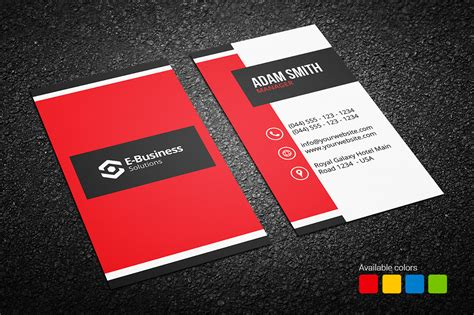 creative card blue business card archives graphic
