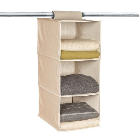 3 section hanging collapsible space saver closet organizer