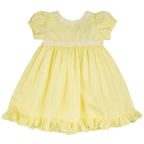 Yellow Baby Dress by Baby Yellow Dress With White Trim