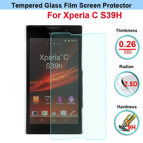 Tempered Glass Sony Xperia C C2305 by Top Quality Tempered Glass Anti Shatter Screen Protector