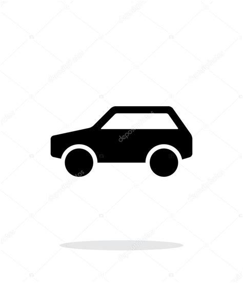Auto Symbol by Einfache Auto Symbol Auf Wei 223 Em Hintergrund Stockvektor