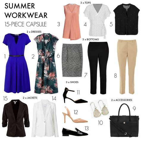 Workwear Wardrobe by How To Create A 15 Summer Workwear Capsule Wardrobe