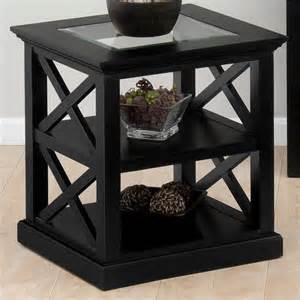 Houzz Living Room End Tables Jofran End Table In Rutland Black Finish Transitional