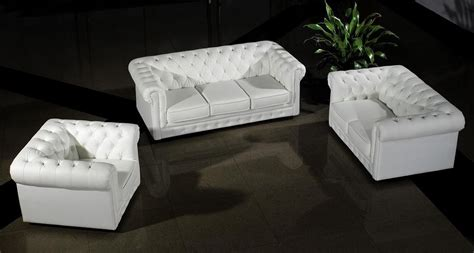 modern white leather sofa set