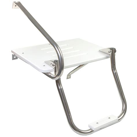 outboard motor boat ladder whitecap poly swim platform with ladder and mounting