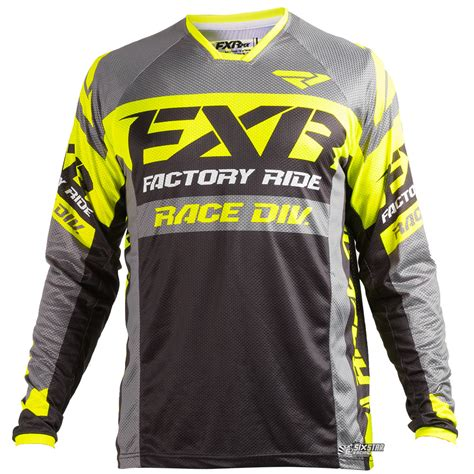 jersey motocross 2018 fxr racing revo mx jersey black yellow sixstar racing