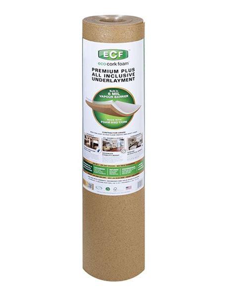 eco cork foam premium plus all inclusive underlayment with