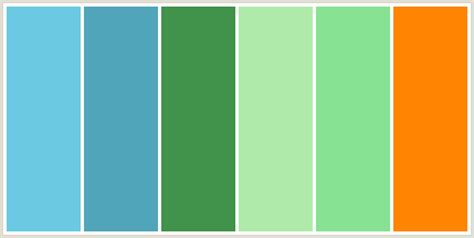 colour combination with green colorcombo142 with hex colors 6bcae2 51a5ba 41924b