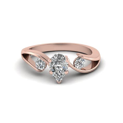 Tension Set Engagement Rings by Tension Set Pear Shaped 3 Engagement Ring In