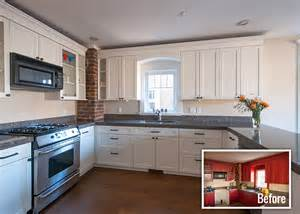 Repainting Kitchen Cabinets Before And After Why You Should Consider Painting Your Wood Kitchen Cabinets And Trim