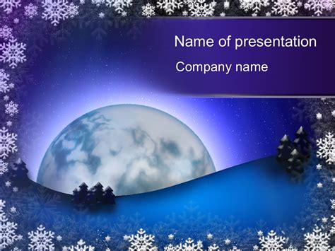 Download Free Winter Moon Powerpoint Template For Your Presentation Free Winter Powerpoint Templates