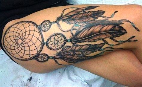 beautiful thigh tattoos beautiful dreamcatcher ideas dreamcatcher