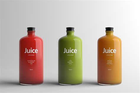Minimalist Luxury by Juice Bottle Packaging Mock Up On Behance