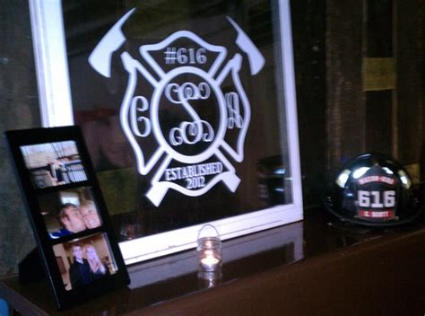 firefighter wedding decorations for the reception