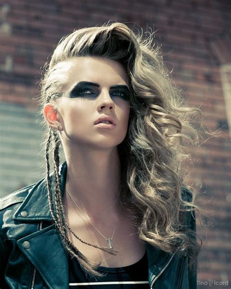 edgy dramatic hairstyles braids hair pinterest