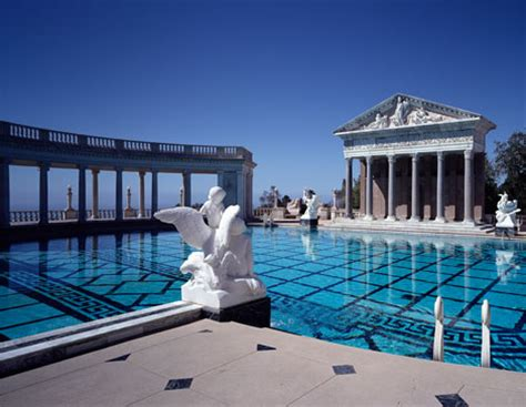Small Backyard House Plans by Hearst Castle Pools Neptune Pool And Roman Pool