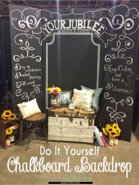 diy chalkboard background your jubilee how to build your own backdrop diy