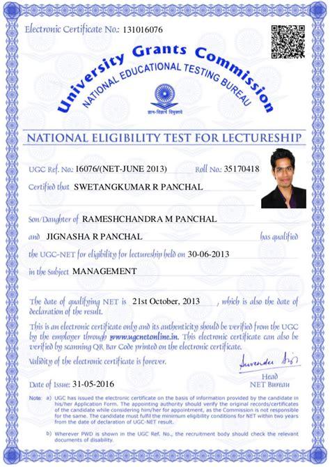 Ugc Net Ugc Net Certificate