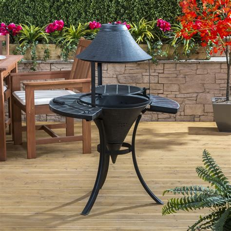 st lucia cast iron chiminea with barbecue grill