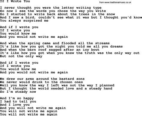 i you song joan baez song if i wrote you lyrics