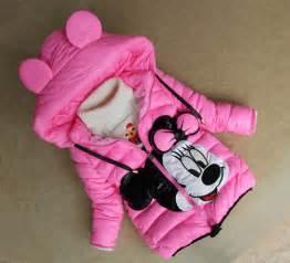 Children cartoon outerwear girls winter coat minnie mouse baby kids